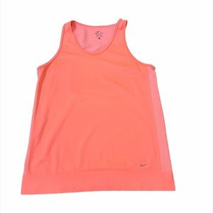 Nike Neon Coral DRI-FIT Scoop-neck Work Out Top